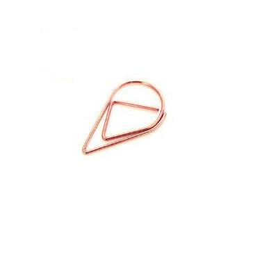 Druppel clips rosé gold - 100 st