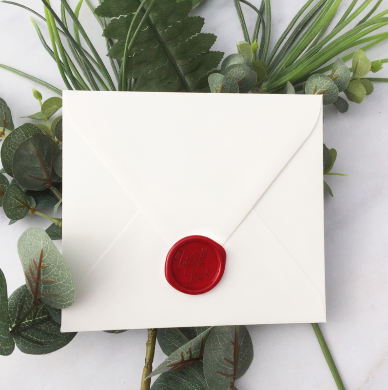 WAX SEALS - WITH LOVE - TIMELESS RED