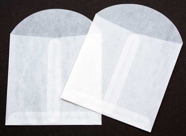 Pergamijn zakjes VIERKANT ca. 100 stuks