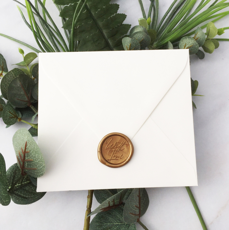 WAX SEALS - WITH LOVE - GOLD