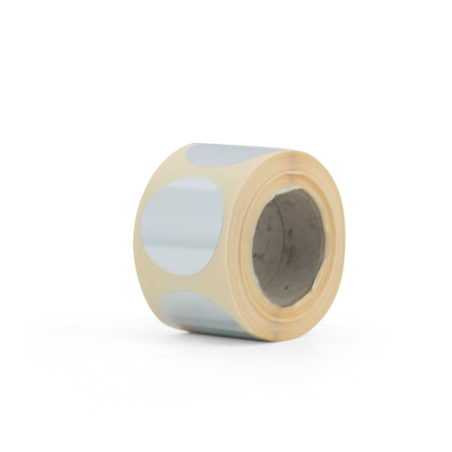 Stickers rond zilver - 100 st