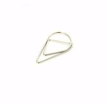 Druppel clips zilver - 100 st