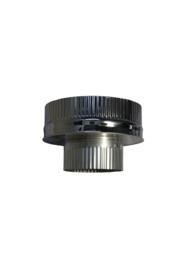 Isotube Plus 150/200 onderaansluitstuk naar 120 mm ZWART