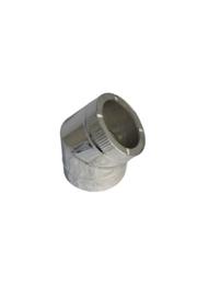 Isotube Plus 150/200 bocht 45 graden ZWART