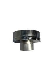 Isotube Plus 150/200 onderaansluitstuk naar 100 mm ZWART