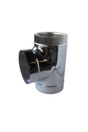 Isotube Plus 200/250 T-stuk 90 graden met dop