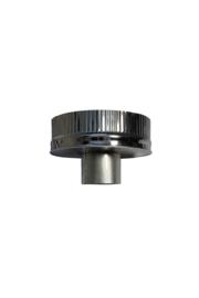 Isotube Plus 150/200 onderaansluitstuk naar 080 mm ZWART