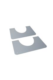 DW 150/200 brandseparatieplaat hellend gegalvaniseerd