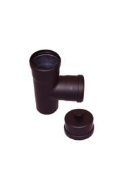 EW 80 1,2 mm T-stuk 90 graden M/F/F met kondensdop