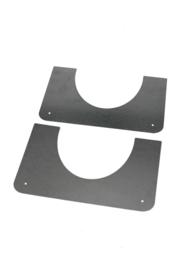 DW 150/200 brandseparatieplaat hellend 5-45 graden ZWART
