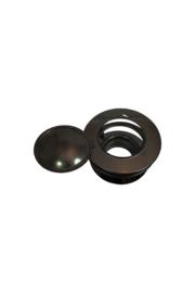 Rookgasventilator 150 mm kap ZWART
