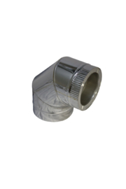 Isotube Plus 150/200 bocht 90 graden ZWART