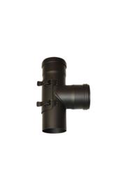 EW 80 1,2 mm T-stuk 90 graden M/F/F met luik exclusief dop