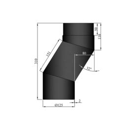 EW 125 2,0 mm versleping 08 cm zwart