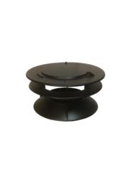 Rookgasventilator 200 mm kap zwart