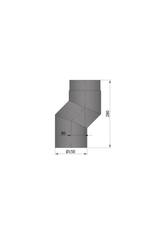 EW 150 2,0 mm versleping 08 cm antraciet