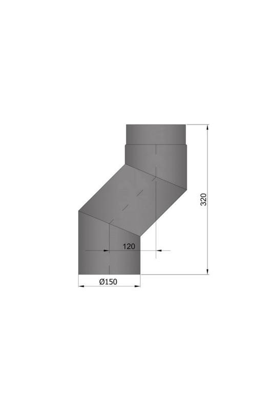 EW 150 2,0 mm versleping 12 cm zwart