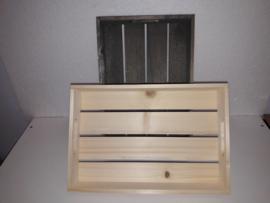 Houten kistje blankhout . 32.5*22*5.5 cm