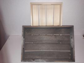Houten kistje oud hout . 32.5*22*5.5 cm