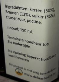 Ambachtelijke Kersen-Bramen confiture 190 ml De Kersenhof Uitverkocht