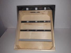 Houten kistje m.greep blank hout 29,5*26*7 cm