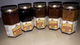 Aardbeien rabarber jam De Laarhoeve 280 ml