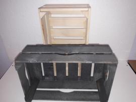 Veiling kistje  oud hout rechth. 34*20*12/14 cm