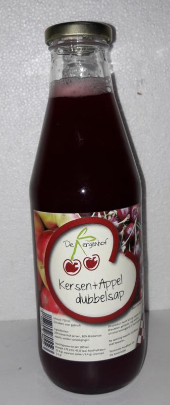 kersen appelsap 0,74 ltr De Kersenhof