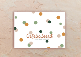 Gefeliciteerd, fijne dag vandaag - confetti