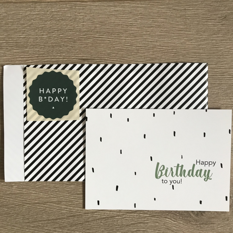 Giftset Happy Birthday groen