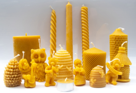 Complete serie bijenwaskaarsen