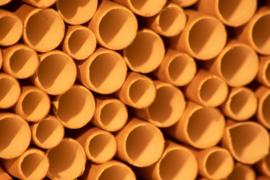 Rietjes ter vervanging  oude rietjes van bijenhuisje