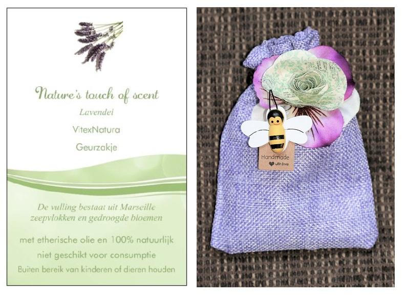 Geurzakje Lavendel met groot bijtje