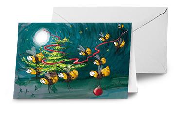 Kerstkaarten 10 stuks