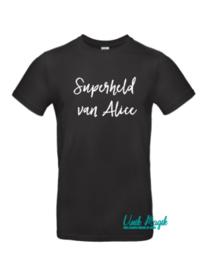 """Gepersonaliseerde t-shirt """"Superheld van..."""""""