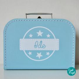 Koffertje met naam en sterren