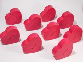 Gepersonaliseerd zeepje hart