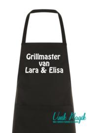 """Gepersonaliseerde schort """"Grillmaster"""" van ..."""