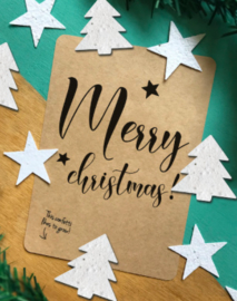 "Kerst bloeiconfetti kaart ""Merry Christmas"""