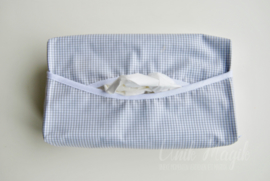 Gepersonaliseerde kleenex cover vichy grijs