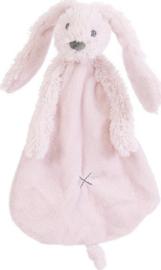 Knuffel doekje konijn Richie roze