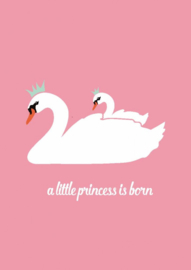 Postkaart A little princess is born