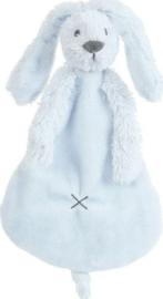 Knuffel doekje konijn Richie lichtblauw