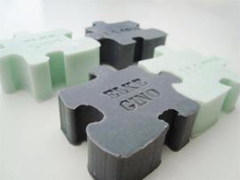Gepersonaliseerd zeepje puzzelstukje