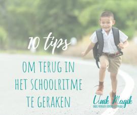 Back to school: 10 tips om terug in het schoolritme te geraken