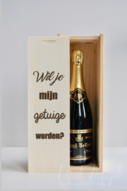 """Champagnekist """"wil je mijn ... worden?"""""""