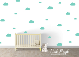 Set muurstickers wolken
