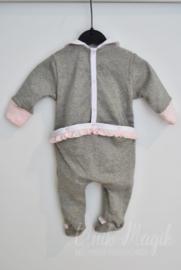 """Baby pyjama """"Millie"""" soft grey/roze"""