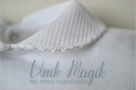 Baby  pyjama wit piqué gepersonaliseerd met naam