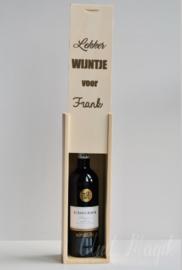 """Wijnkist """"lekker wijntje voor"""""""